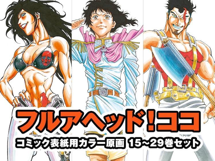 「フルアヘッド!ココ」コミックス表紙用カラー原画15~29巻セット