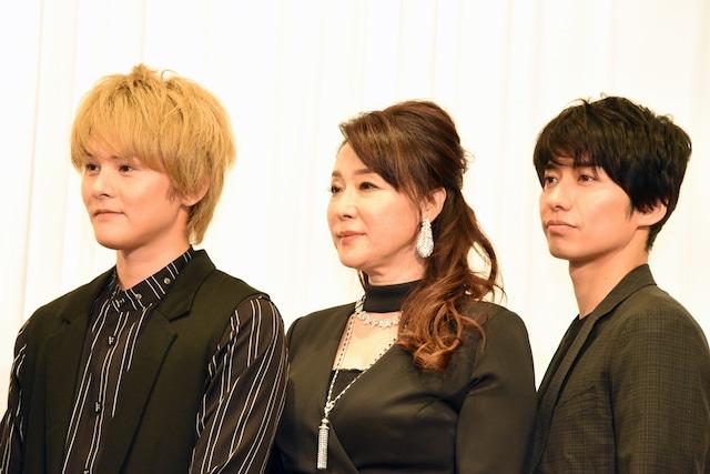 左から古屋敬多(Lead)、浅野ゆう子、武田航平。