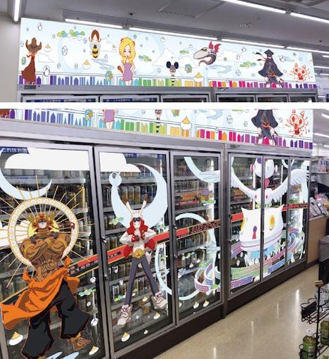 ローソン上田駅前店の装飾イメージ。