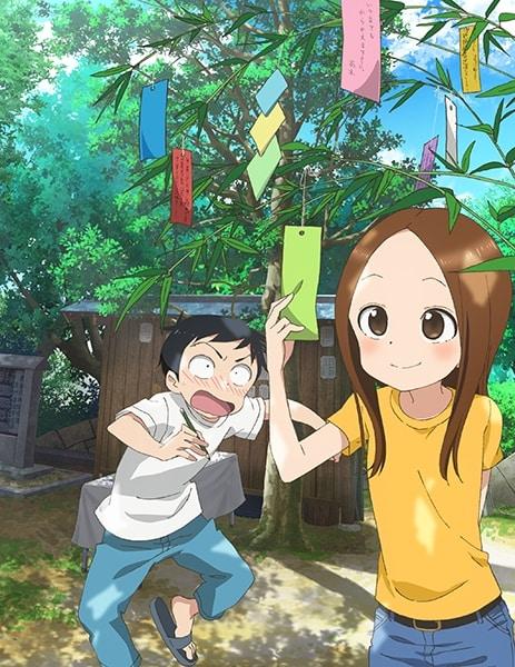 """TVアニメ「からかい上手の高木さん2」の""""七夕ビジュアル""""。"""