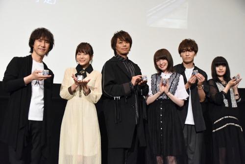 左から平川大輔、水瀬いのり、浪川大輔、上田麗奈、山下誠一郎、ASCA。