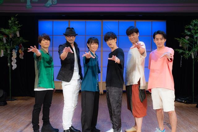 左から入野自由、大塚明夫、伊藤節生、櫻井孝宏、星野貴紀、立川譲監督。