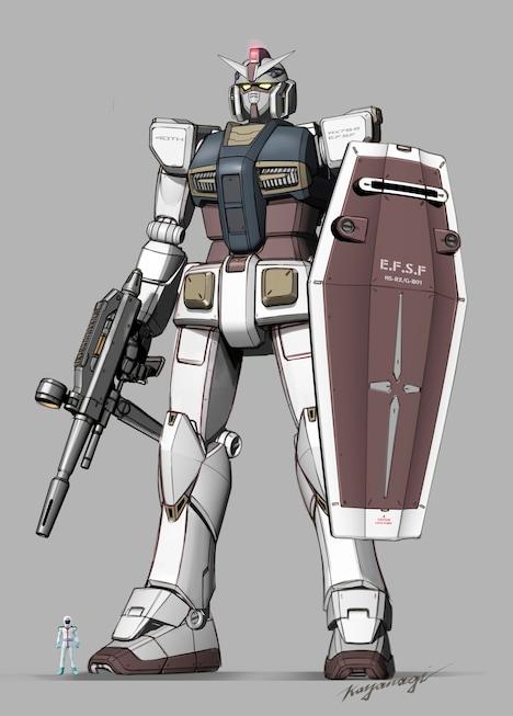 KEN OKUYAMA DESIGNによる「RX-78-2 ガンダム」。