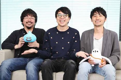 座談会の様子。左から岡本プロデューサー、サイトーブイ、内川ディレクター。