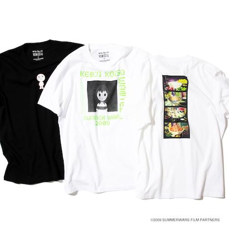「サマーウォーズ」とMANGART BEAMS TのコラボレーションTシャツ3種。