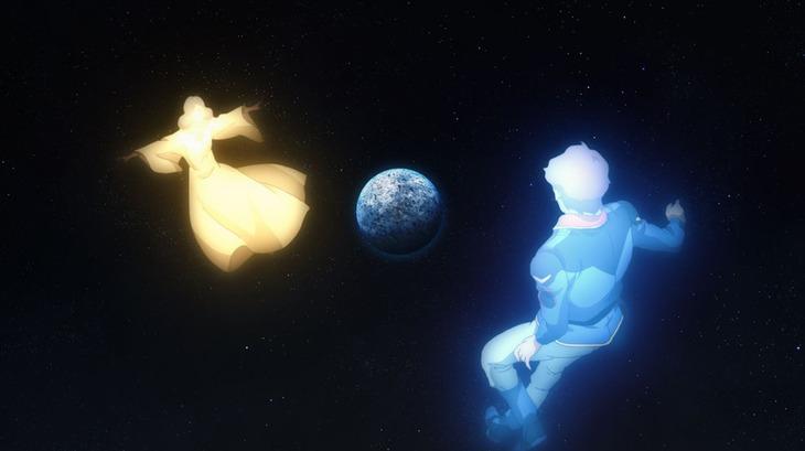 新規映像「機動戦士ガンダム 光る命 Chronicle U.C.」の場面カット。