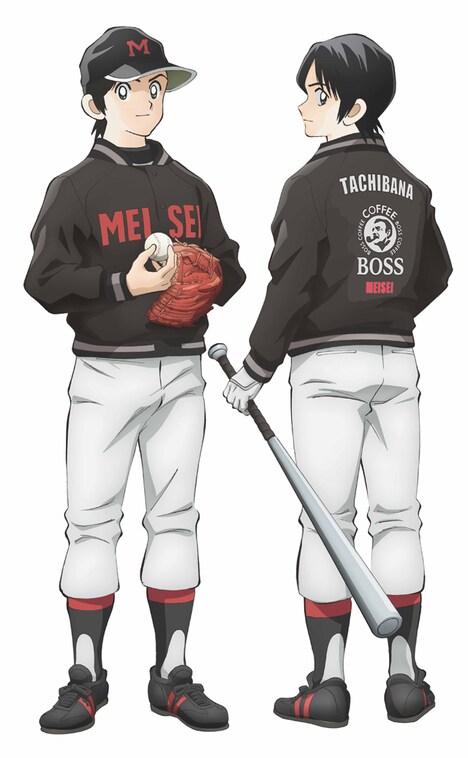 「MIX」とBOSSによるコラボキャンペーンの描き下ろしアニメイラスト。