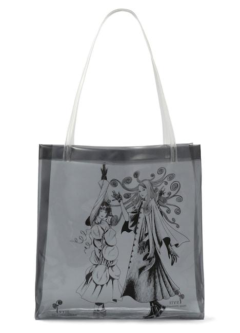 描き下ろしイラストを使用したPVCトートバッグ。