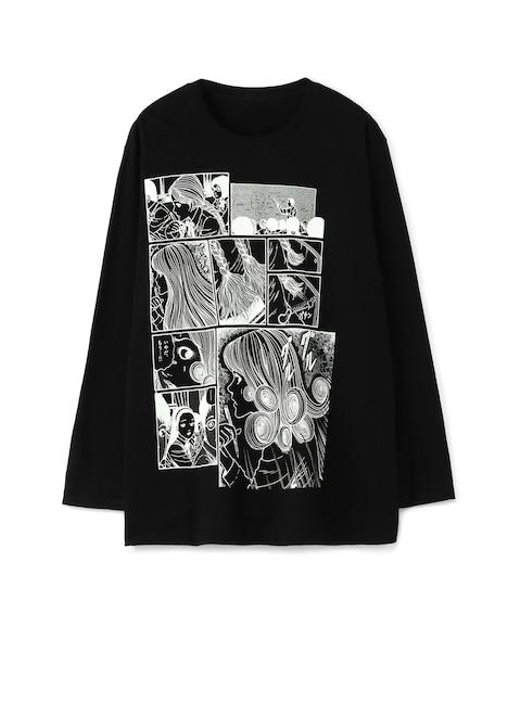 作中のコマを使用した、五島桐絵の長袖Tシャツ。