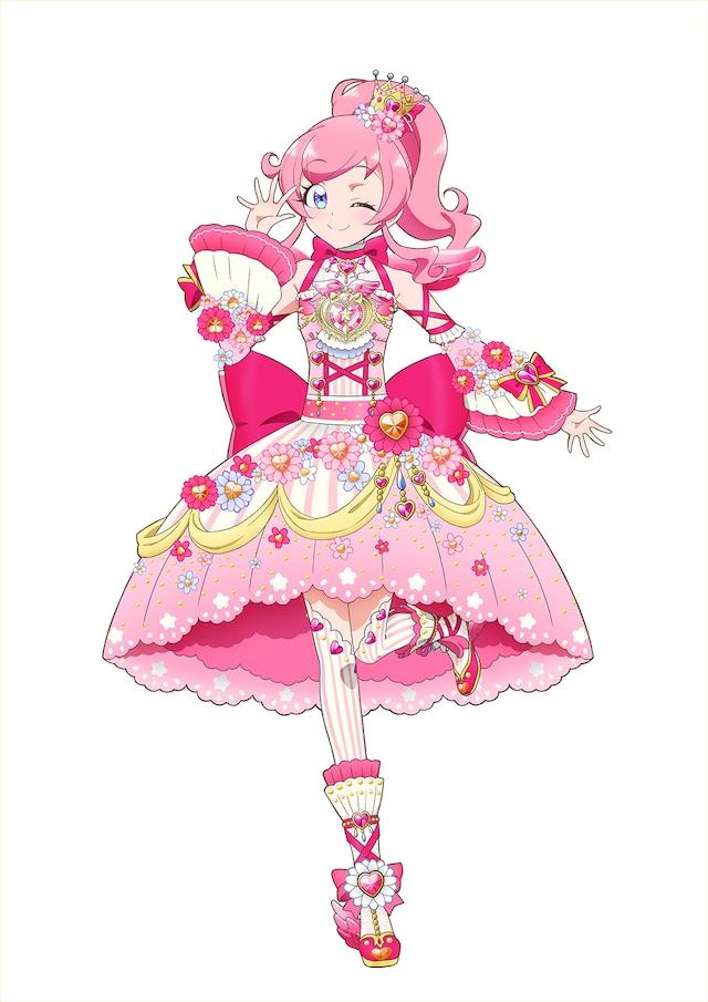 「ときめきのピンクジュエルコーデ」を着たみらい。