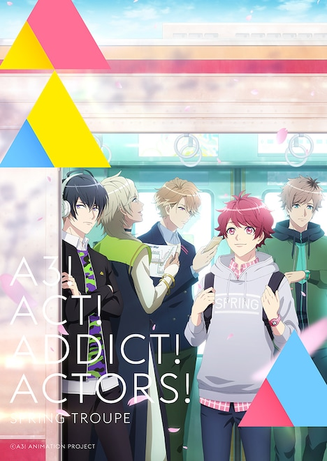 TVアニメ「A3!」SEASON SPRINGのキービジュアル。