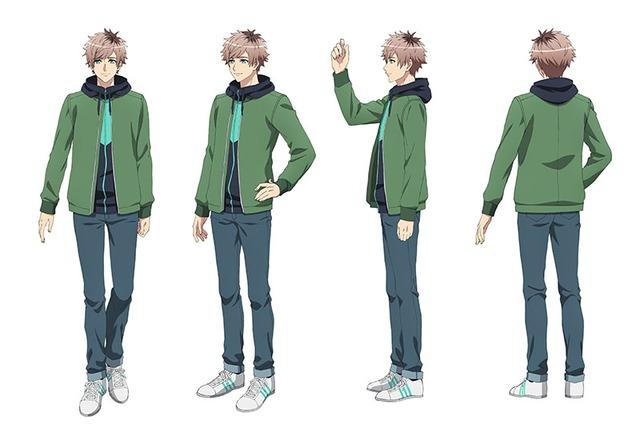 皆木綴(CV:西山宏太朗)のキャラクター設定画。