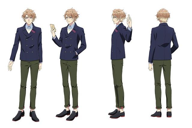 茅ヶ崎至(CV:浅沼晋太郎)のキャラクター設定画。