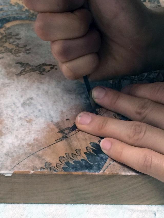 「百と卍」江戸浮世絵木版画の制作過程。