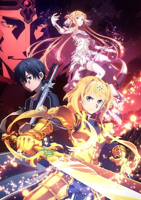 TVアニメ「ソードアート・オンライン アリシゼーション War of Underworld」キービジュアル