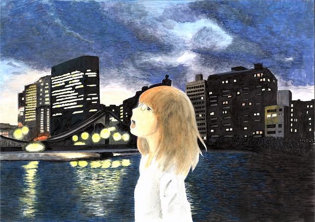 入江喜和「たそがれたかこ」イラスト