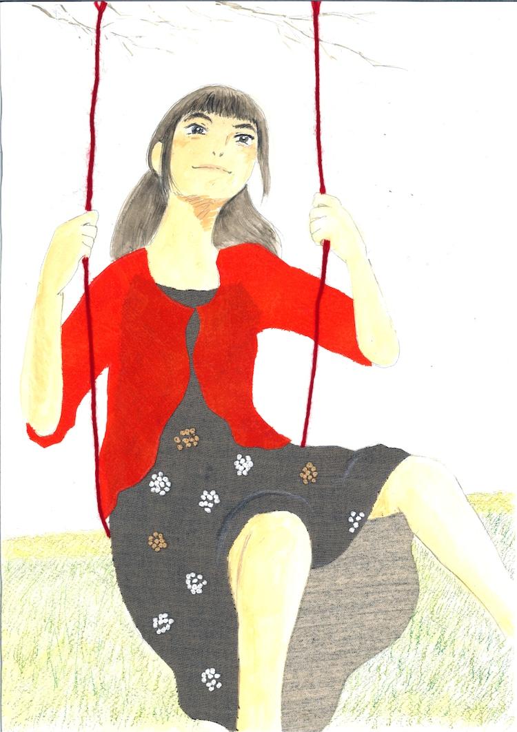 入江喜和「ゆりあ先生の赤い糸」イラスト