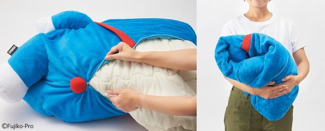 「押し入れでおやすみぬいぐるみ布団収納ケース」の使用イメージ。