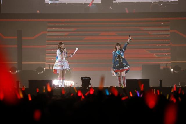 左から2日目公演のMCを務めた松嵜麗、中村繪里子。
