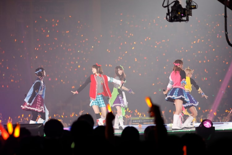 河野ひより、白石晴香、永井真里子、丸岡和佳奈、涼本あきほによる「夢咲きAfter school」。