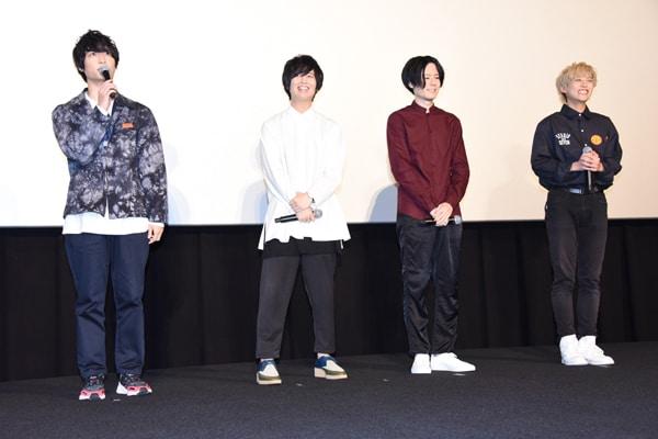 左から梅原裕一郎、斉藤壮馬、内山昂輝、富園力也。