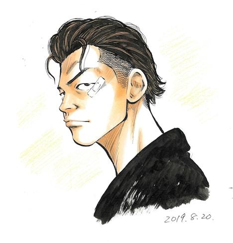 花岡楓士雄 (c)高橋ヒロシ(秋田書店)