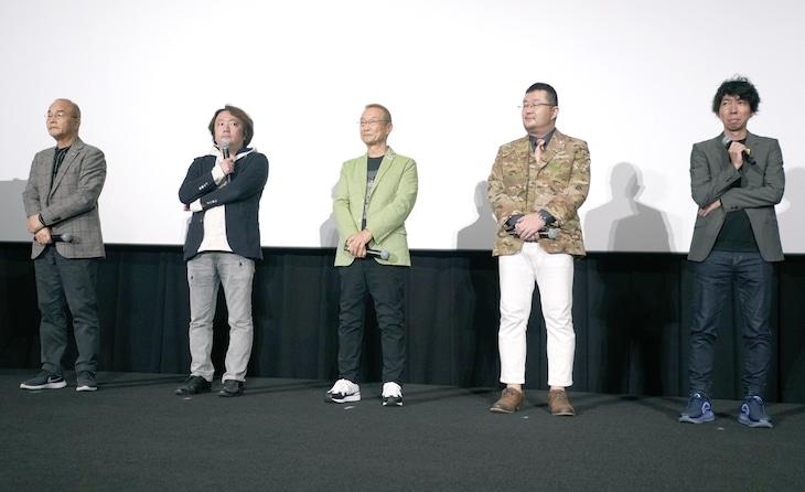 左からこだま兼嗣総監督、加藤陽一、神谷明、金子賢一、小形尚弘プロデューサー。