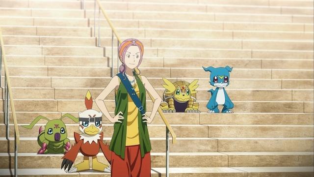 「デジモンアドベンチャー LAST EVOLUTION 絆」の場面カット。