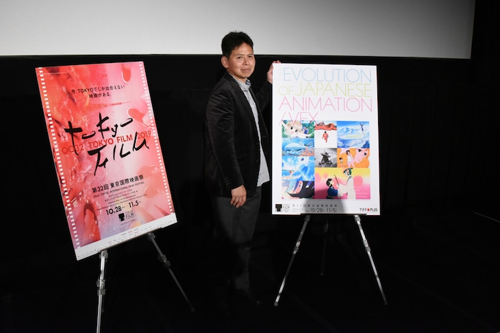 映画「若おかみは小学生!」上映会より、高坂希太郎監督。