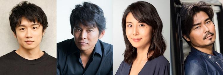 左から風間俊介、織田裕二、松嶋菜々子、小澤征悦。
