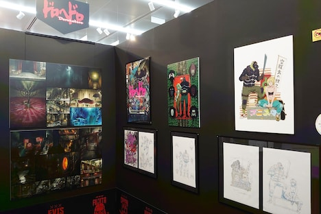 MAPPAのコーナーより、「ドロヘドロ」の展示。(c)2020 林田球・小学館/ドロヘドロ製作委員会