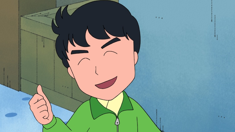 12月8日放送「『まる子、富士山のような青年に出会う』の巻」より、三浦翔平演じる青年。