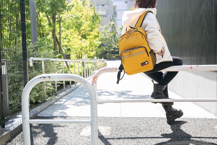 小野田坂道モデルのリュック使用イメージ。