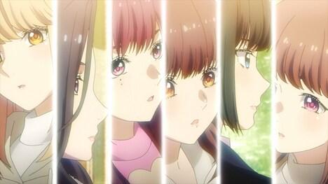 TVアニメ「推しが武道館いってくれたら死ぬ」最新PVより。