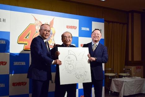 左から中野和雄氏、中井義則、嶋田隆司。