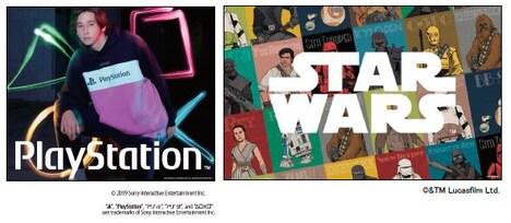 「PlayStation」コレクション、「スター・ウォーズ」コレクションのビジュアル。