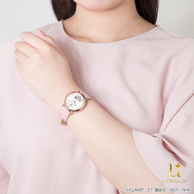 さくらモデルの腕時計の使用イメージ。