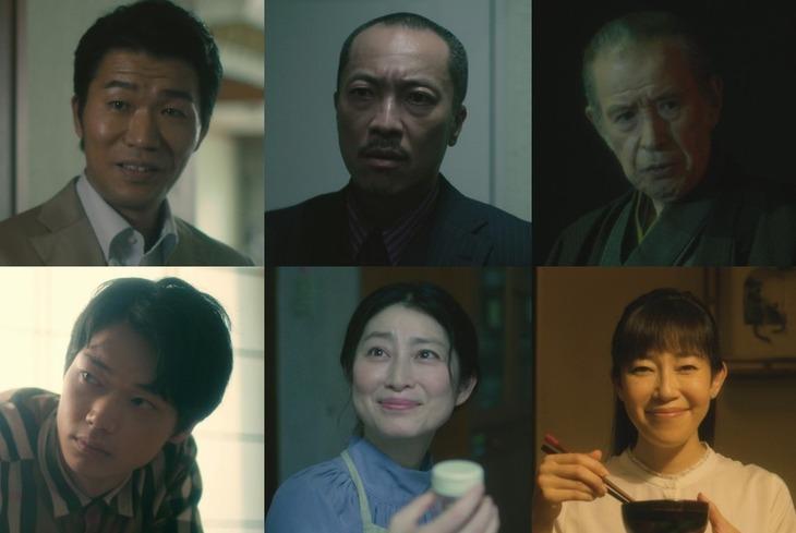 TVドラマ「僕はどこから」追加キャスト。上段左から高橋努、音尾琢真、若林豪。下段左から笠松将、仙道敦子、須藤理彩。