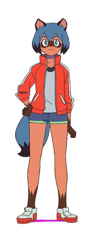 影森みちる(CV:諸星すみれ)。とある秘密を抱えてアニマシティへ逃げ込んできた女子高生のタヌキ獣人。