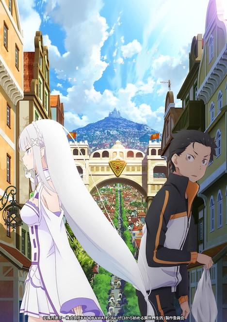 TVアニメ「Re:ゼロから始める異世界生活」第1期新編集版のビジュアル。