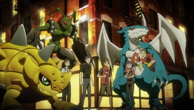 劇場アニメ「デジモンアドベンチャー LAST EVOLUTION 絆」の場面カット。