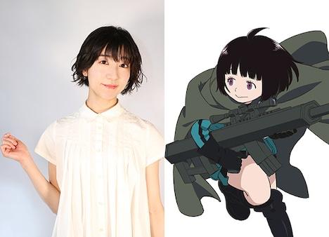 雨取千佳役の田村奈央。