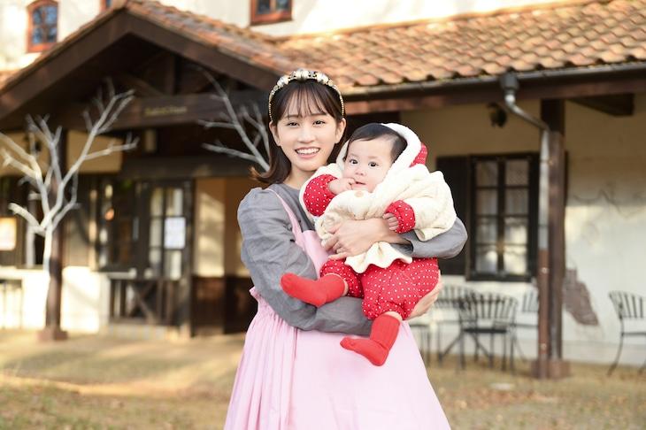 TVドラマ「伝説のお母さん」より、主人公・メイを演じる前田敦子。