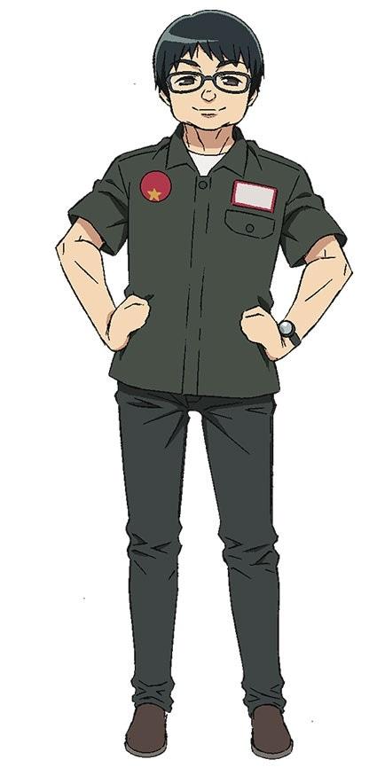 富田純基演じる富田純基。
