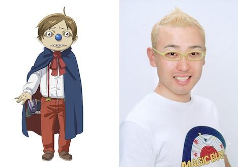 エビスこと恵比寿花夫と高橋伸也。