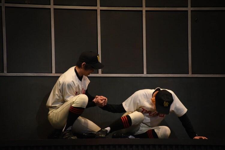 「ダブルヘッダー特別公演『おおきく振りかぶって』/『おおきく振りかぶって 秋の大会編』」ゲネプロの様子。