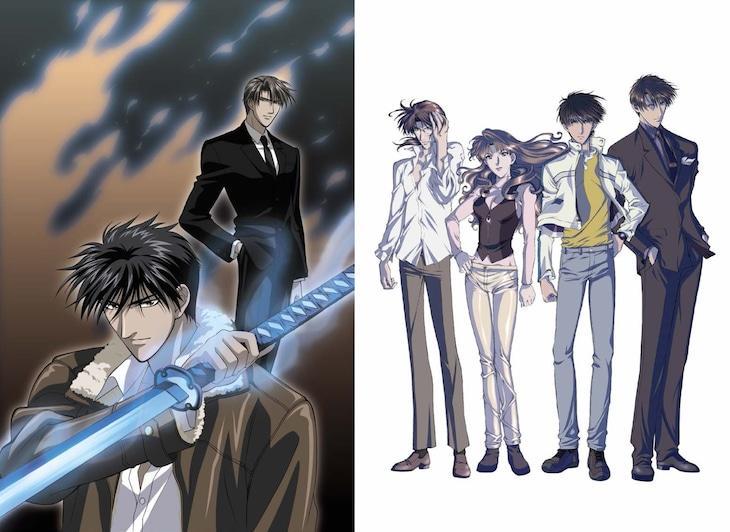 アニメ「炎の蜃気楼(ミラージュ)」TV・OVAシリーズのキービジュアル。