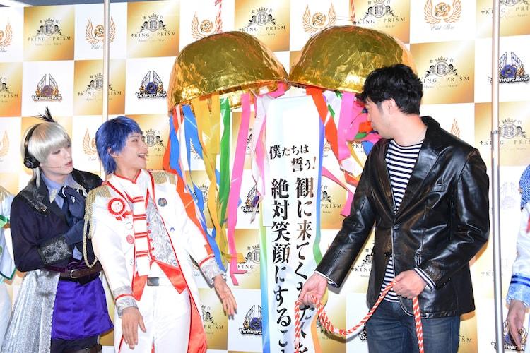 舞台「KING OF PRISM -Shiny Rose Stars-」囲み取材より。