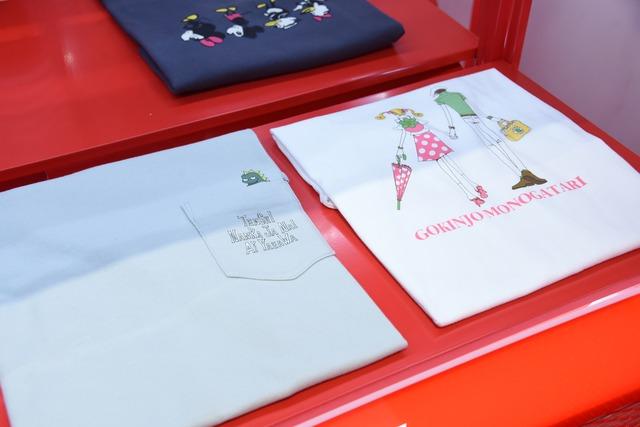 「マンガ UT りぼん 65周年」より、「天使なんかじゃない」コラボTシャツ(左)、「ご近所物語」コラボTシャツ(右)。