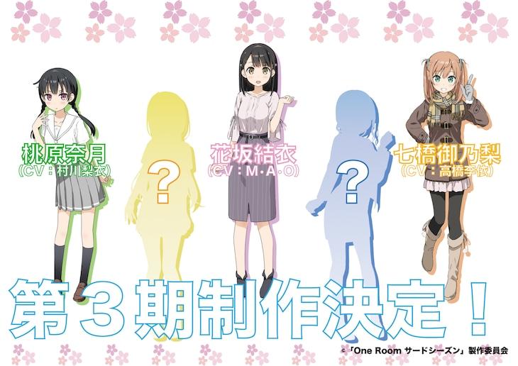 TVアニメ「One Room サードシーズン」のキャラクタービジュアル。